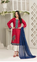 Semi Stitched  3 Piece Dress Embroidered Fancy  Schiffli  Lawn  Shirt Chiffon Schiffli Embroidered  Dupata Dyed Cotton Trouser