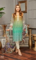 Lawn Embroidery Chiffon Embroidered Dupatta Plain Trouser