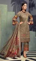 Chikankari Lawn Crinkle Dupatta Plain trouser
