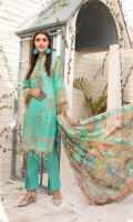 Three Piece Embroidered Swiss Lawn Suit