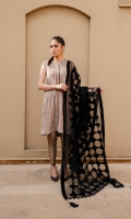 Embroidered Velvet Shirt with mirror details and paired with raw silk pants and velvet applique shawl.