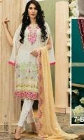 1 shirt emb jacquard cotton  2 shefoon emb dup 3 plain cambric shalwar