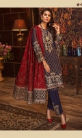 CHIFFON CORDING FRONT CHIFFON CORDING BACK PLAIN CHIFFON SLEEVES ORGANZA EMBROIDERED NECKLINE ORGANZA EMBROIDERED BORDER FOR FRONT ORGANZA EMBROIDERED BORDER FOR BACK ORGANZA EMBROIDERED BORDER FOR SLEEVES MEDIUM SILK CORDING DUPATTA ORGANZA EMBROIDERED PALLU ORGANZA EMBROIDERED MOTIF FOR TROUSER RAW SILK TROUSER