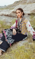 Shirt: 3 meter digital printed lawn Dupatta: 2.5 meter digital print on Chiffon Trouser: 2.5 meter Lawn Front Patch: 0.75 meter embroidery on organza Trouser patch: 1.25 meter embroidery on organza Neck Patch: 1.25 meter embroidery on Organza