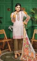 2.5 Meters Digital Printed and Embroidered Chikankari Lawn Shirt 0.5 Meter Printed Sleeves 2.5 Meters Plain Trouser 2.5 Meters Printed Chiffon Dupatta