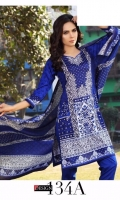 3 pcs printed lawn suit
