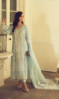 Chikankari Embroidered Front With Hand Work Chikankari Front Panel With Hand Work Embroidered Front Border With Hand Work Dyed Cotton Back Chikankari Embroidered Back Border Chikankari Embroidered Sleeves With Hand Work Dyed Orangza Dupatta Embroidered Net Dupatta Pallu Embroidered Patch For Trouser Dyed Cotton Trouser