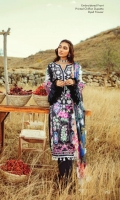 Shirt: - Digital Printed and Embroidered Lawn Dupatta: - Printed and Embroidered Chiffon / Net Trouser: - Dyed Cambric