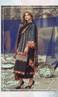 Embroidered front on digital printed lawn  Digital printed back on lawn  Embroidered sleeves on digital printed lawn  Embroidered border on organza  Screen printed trouser  Cotton net dupatta with embroidered borders
