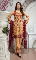 3pc embroidered suit