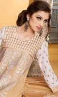 Embroidered 3 pcs cotton suit with chiffon dupatta