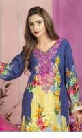 1 cotton digital print with embroidery shirt 2 emb shefoon dup 3 plain shalwar