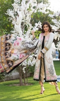 Digitally Printed Pure Silk Dupatta Embroidered Lawn Front Digitally Printed Back & Sleeves Gold Jacquard Trouser Embroidered Border