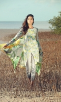 Embroidered front  Digital print back and sleeves  Digital print pure silk dupatta  Dyed Trousers  Embroidered trouser border