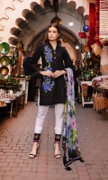 - Full Embroidered front and sleeves - Printed back  - Pure chiffon printed dupatta - 2 Bunch front motifs  - 2 Embroidered borders - Dyed trouser