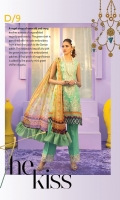 Digital Printed Front, Back & Sleeves Embroidered Border & Neckline Embroidered Border for Trouser Digitally Printed Pure Chiffon Dupatta Dyed Trouser