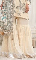 RAW SILK & CHIFFON SHARARA