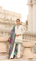 Pure embroidered chiffon shirt with adda work and embellishment  Charmeuse silk block print dupatta