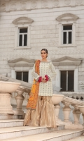 Zaree tissue embroidered shirt with adda work and embellishment  Charmeuse silk block print dupatta