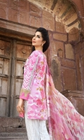 3 Piece Lawn Suit,1.25 Meter Front,1.25 Meter Back Shirt,0.75 M Sleeves,Embroidered Neckline,Emb Front Border,Emb Sleeves Border,2.5 Meter Pure Chiffon Dupatta,2.5 Meter Trous