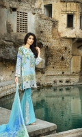 3 Piece Lawn Suit,1.25 Meter Front,1.25 Meter Back Shirt,0.75 M Sleeves,Embroidered Neckline,2.5 Meter Pure Chiffon Dupatta,Sleeves Border,Emb Front Shirt,2 Motif Trouser,2.5 Me (2)
