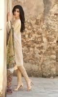 3 Piece Lawn Suit,1.25 Meter Front,1.25 Meter Back Shirt,0.75 M Sleeves,Sleeves Motif,2.5 Meter Pure Silk Dupatta,Trouser Motif,Embroidered Front Border,2.5 Meter Trouser