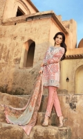3 Piece Lawn Suit,1.25 Meter Front,1.25 Meter Back Shirt,0.75 M Sleeves,Emb Neck,2.5 Meter Pure Chiffon Dupatta,Emb Border,Sleeves Emb Border,2 Piece Trouser Motif,2.5 Meter Trouser