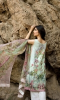 3 Piece Lawn Suit,1.25 Meter Front,1.25 Meter Back Shirt,0.75 M Sleeves,Embroidered Neckline,Emb Front Border,2.5 Meter Pure Chiffon Dupatta,2.5 Meter Trouser