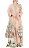 SOLID PINK HEAVY EMBELLISHED ANARKALI DRESS