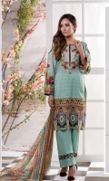 Digital Shirt 1.75 Mtr Embroidered Front Chiffon Dupatta 2.5 Mtr Trouser 2.5 Mtr