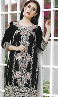 Embroidered Chiffon Unstitched Kurti
