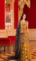 . Embroidered + Embellished Net Front 0.75meter . Embroidered Net Back 1.25meters . Embroidered Net Sleeves 0.75meter . Foil Printed Net Fabric for Trouser 3yards . Embroidered Net Dupatta 2.5meters  ACCESORIES  . Embroidered border Net for Shirt 2yards . Embroidered Motifs for shirt 2 . Embroidered Net border for Dupatta 3meters . Viscose silk lining for Shirt 2.5yards . Viscose silk lining for Trouser 3yards
