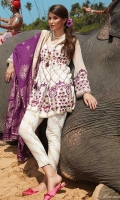 Cotton Net EMB Front : 1 MTR Cotton Net EMB Back : 1 MTR Cotton Net EMB Sleeve : 0.65 MTR Cotton Printed Trouser : 2.5 MTR Jacquard Dupatta : 2.5 MTR Accessories Shirt Border : 1.75 MTR
