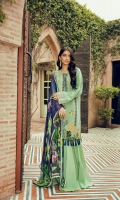 Embroidered Jacquard Lawn Front                                  01.25 meters  Jacquard Lawn Back                   01.25 meters  Jacquard Lawn Sleeves               0.65 meters  Cambric Trouser                          02.5 meters  Printed Chiffon Dupatta              02.5 meters