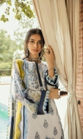 Embroidered Lawn Front           01.25 meters  Printed Lawn Back                     01.25 meters  Printed Lawn Sleeves                 0.65 meters  Cambric Trouser                         02.5 meters  Printed Chiffon Dupatta              02.5 meters
