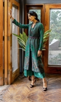 DYED FRONT (JACQUARD) 1.2 METERS  DIGITAL PRINTED BACK (LAWN) 1.25 METERS  DYED SLEEVES (JACQUARD) 0.75 METER  EMBROIDERED DUPATTA (CHIFFON) 2.5 METERS  ACCESSORIES  EMBROIDERED NECKLINE (ORGANZA)  DYED SCHIFFI BORDER FOR TROUSER (CAMBRIC) 1 METER