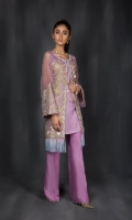 Includes: Shirt, Trouser   Shirt: Chiffon  Trousers: Rawsilk