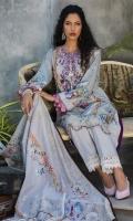 Embroidered Khaddar Shirt 3 Meter Dupatta 2.5 Meter Trouser 2.5 Meter