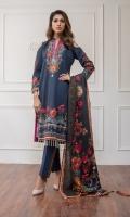 Shirt: - Digital Printed Khaddar Dupatta / Shawl: - Digital Printed Khaddar Shawl Trouser: - Dyed Khaddar