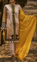 Stuff : Printed Embroidered Shirt  Heavy Embroidered  Chikan Kari Dupatta  Trouser With Embroidered Bunches