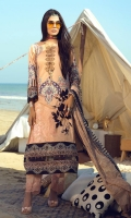 Shirt : Printed Lawn Shirt with Embroidered Front. Dupatta : Printed Chiffon Wiith Embroidery Trouser : Cambric Trouser with Embroidered Bunches/Belts