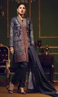 Shirt : Two Tone Dyed Yarn Jacquard Shirt with Heavy Embroidered Front Dupatta : Two Tone Jacquard Dupattas Trouser : Textured Jacquard Trouser.