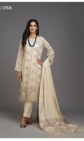-Un-Stitched 3pc Jacquard Cambric Two Tone Dyed Yard Shirt and Dupatta and Cambric Trouser. -100% Original.