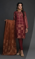 -Jacquard Cambric Dyed Yard Shirt. -Jacquard Dupatta -Cambric Trouser.