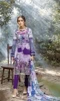-Printed Linen Embroidered Shirt, -Printed Linen Dupatta -Dyed Linen Trouser.