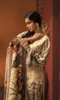 Digital Printed Linen Shirt with embroidered front. Digital Printed Shawl Dupatta Dyed linen trouser.
