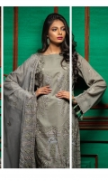 Shirt : Swiss Voile with Full Front Embroidered. Sleeves : Embroidered Sleeves. Dupatta : Full Embroidered Chiffon Dupatta. Trouser : Cambric with Embroidered Bunch/Belts.