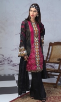 -Shirt : Printed Lawn Shirt with Embroidered Front. -Dupatta : Lawn Jacquard Dupatta -Trouser : Plain Dyed Cambric Trousers.
