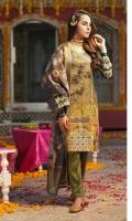Shirt : Digital Printed Lawn Shirt - Embroidered Front with Zari work. Dupatta : Banarsi Digital Dupattas. Trouser : Cambric Trouser.