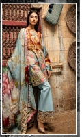 *Shirt : Digital Lawn Embroidered Front.  *Dupatta : Digital Printed Bamber Pure Chiffon.  *Trouser : Embroidered Bunch/Belt.